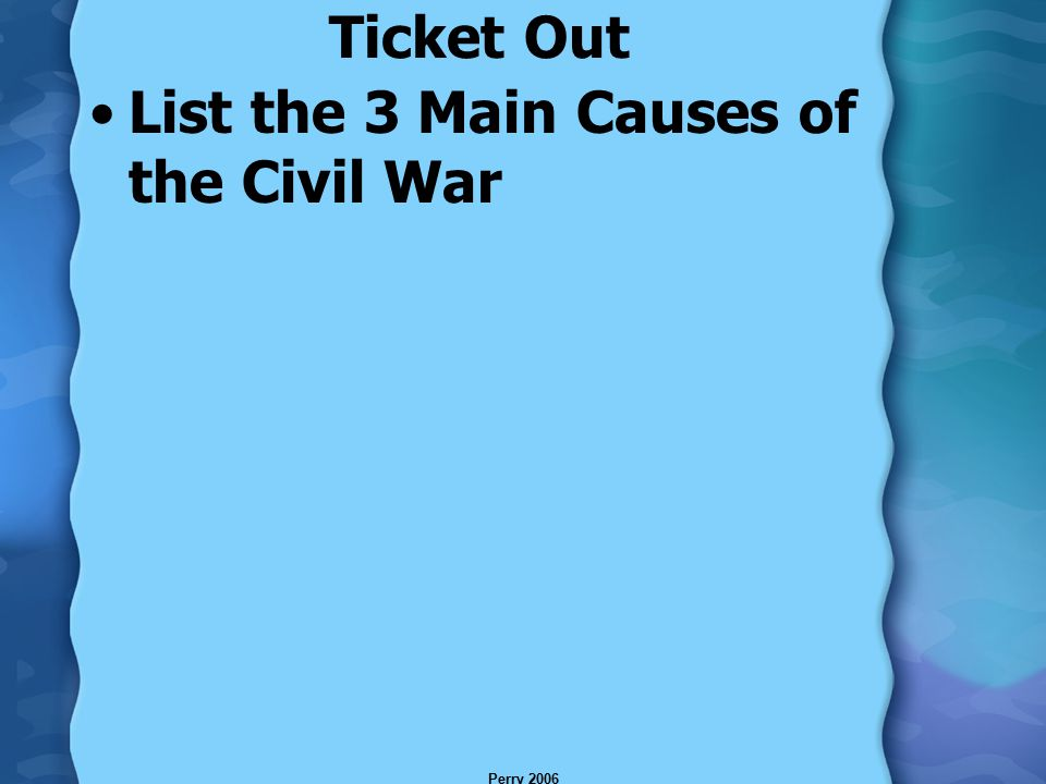 What were the three main causes of the civil war and was the war inevitable