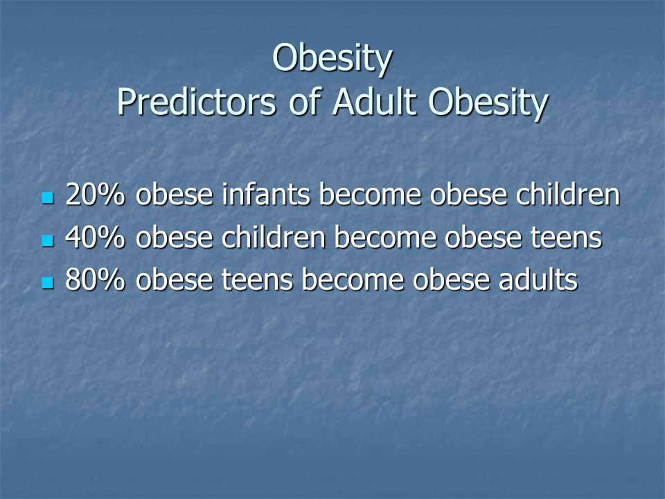 Childhood and working adult obesity