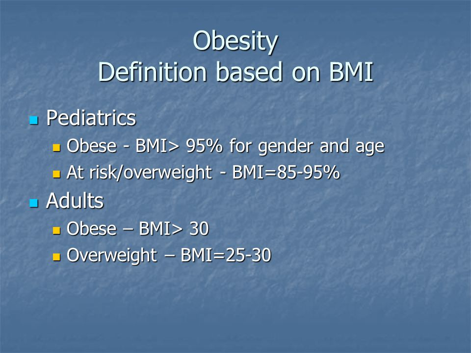 what is obesity definition pdf