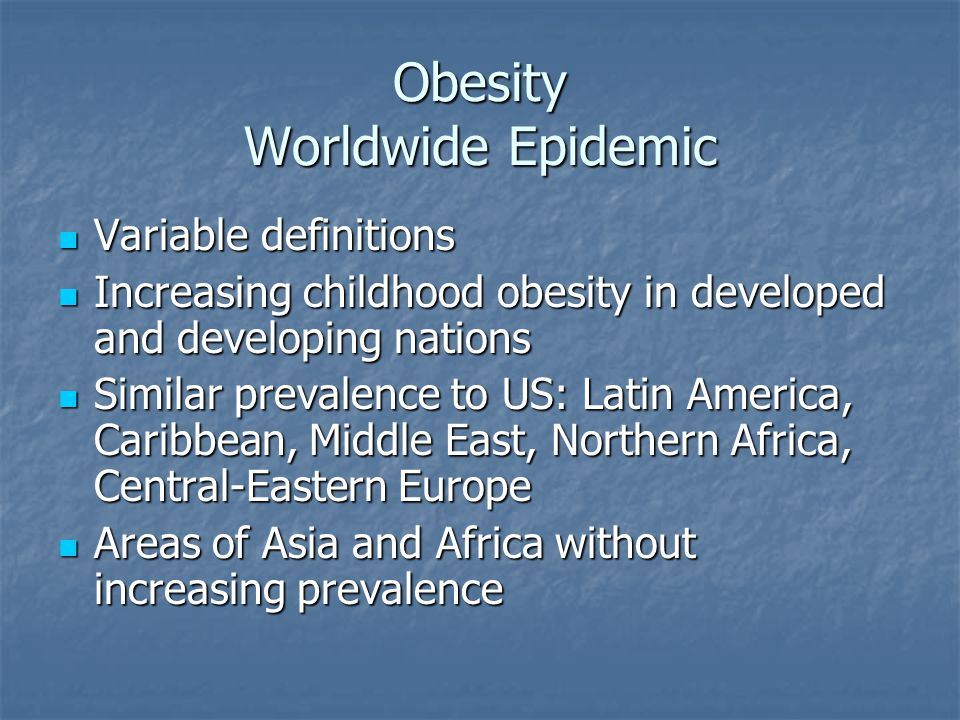 The Obesity Epidemic (7:13)