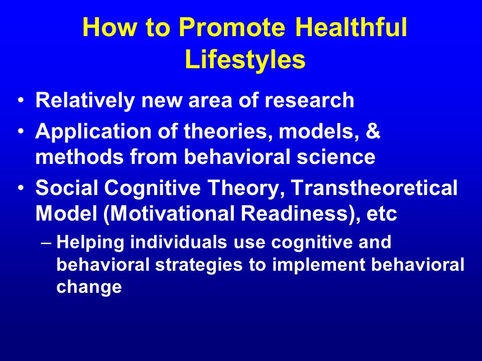 transtheoretical model in sedentary lifestyle interventions Intentions, attitudes, and perceived behavior control stages of change model (the transtheoretical fats and sugars and a more sedentary lifestyle.