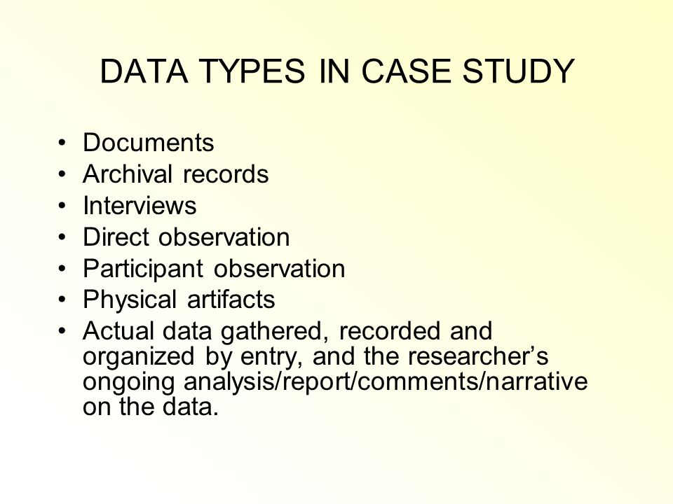 case analysis and report