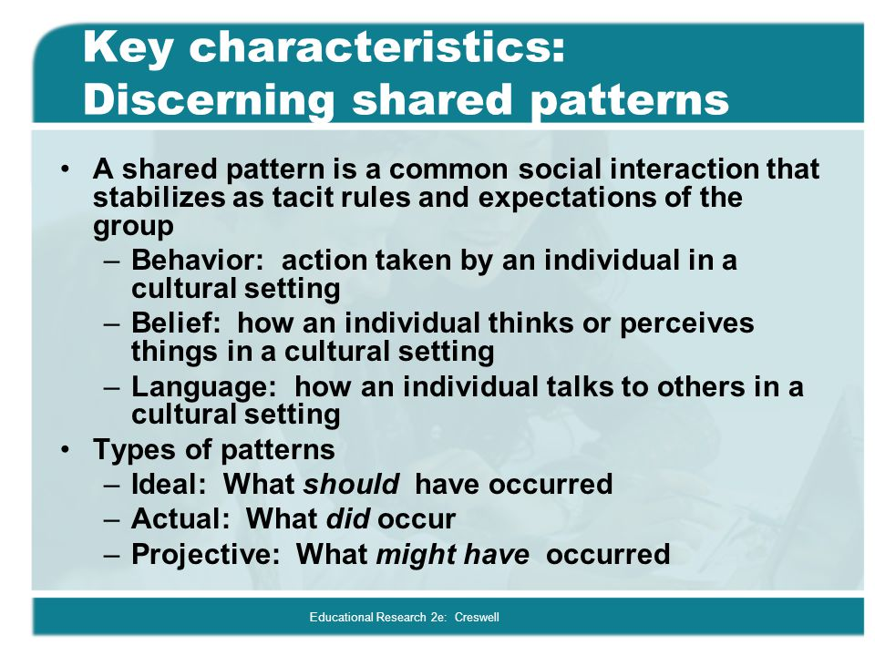 Key characteristics: Discerning shared patterns
