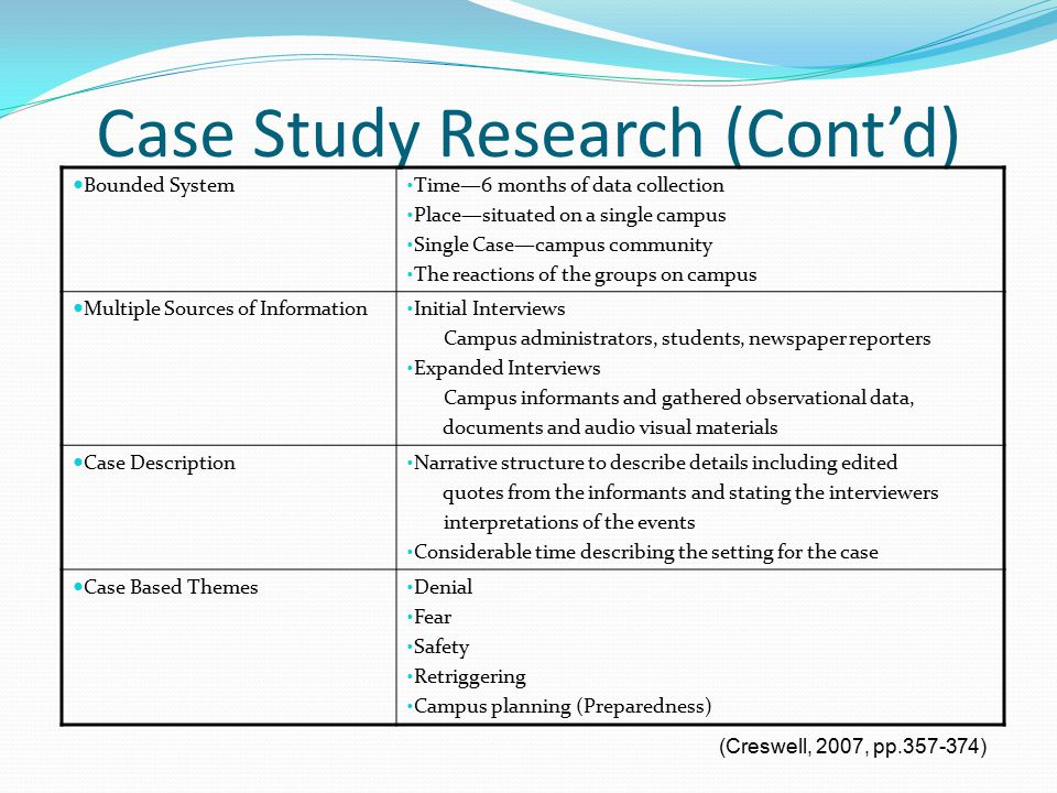 single case study research