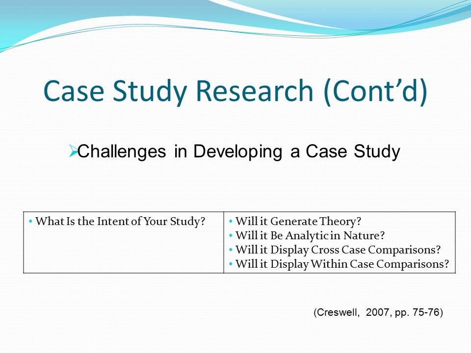 a case study research Case study
