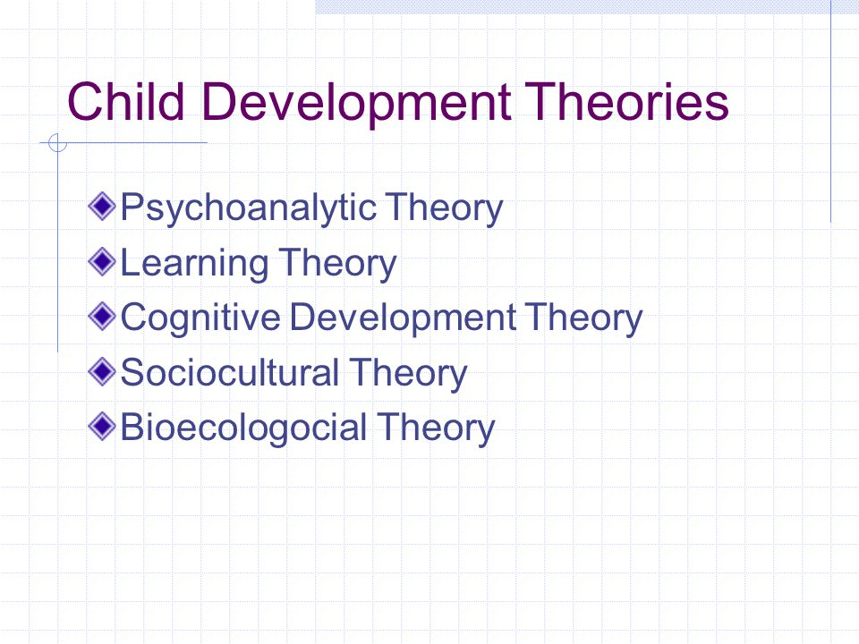 thesis on child development theories The thesis statement can help map a paper, as it suggests an order or direction for the paper's development a thesis statement,  using the thesis while writing.