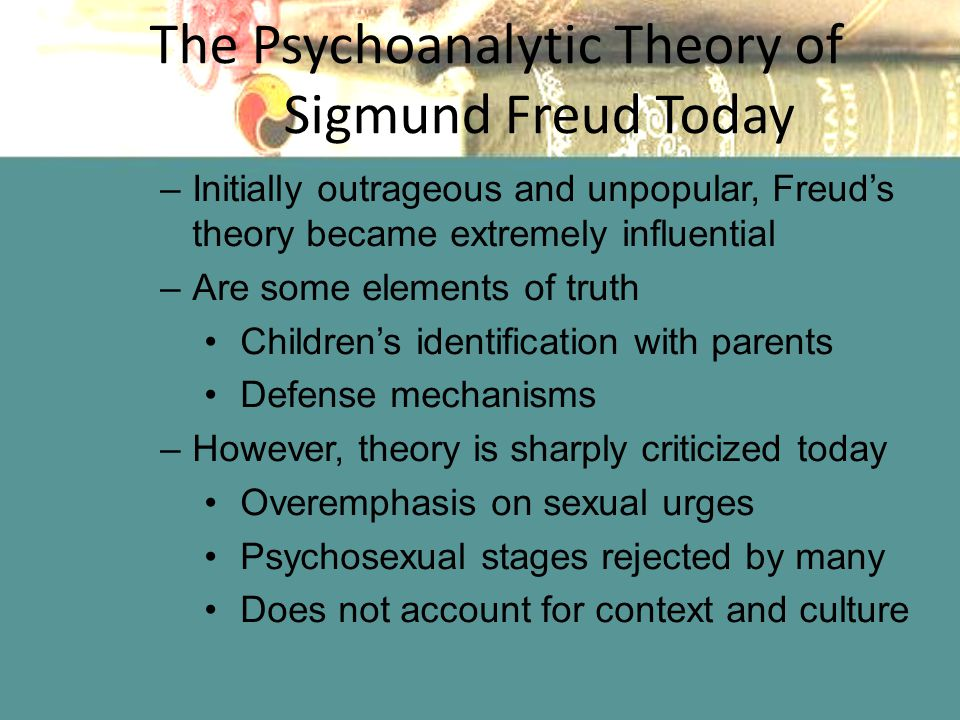 is freud psychology important today Both made significant contributions to psychology but neglected one important influence on human thought used by countless therapists throughout the history of psychology even all this, to use freud's and experiences as wholes is still preserved in psychology today.