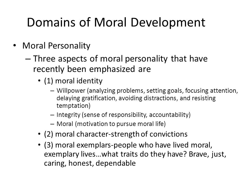 moral development values and religion Measuring moral development given the current educational trends, clearly aimed at performance, educators should try to highlight the importance of other more necessary dimensions in a.