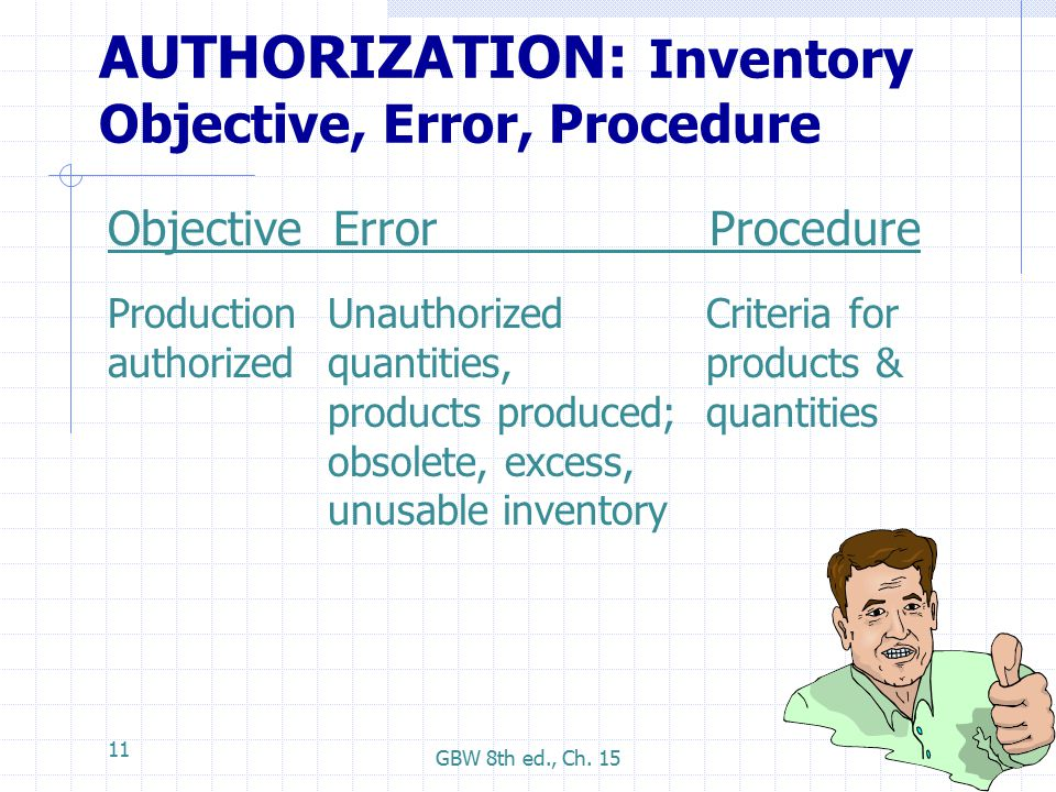 objective in inventory