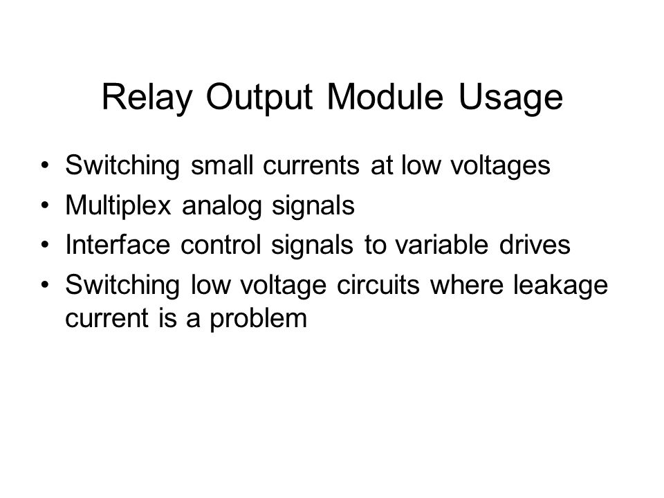 chapter 8 output modules ppt download
