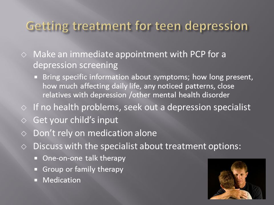 Getting treatment for teen depression