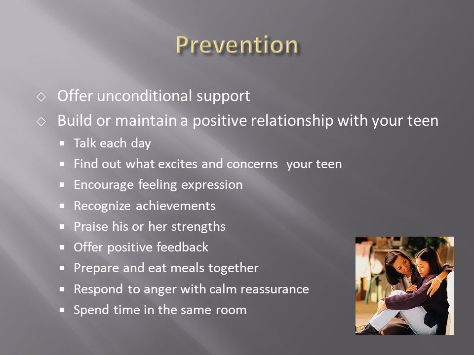 Prevention Offer unconditional support