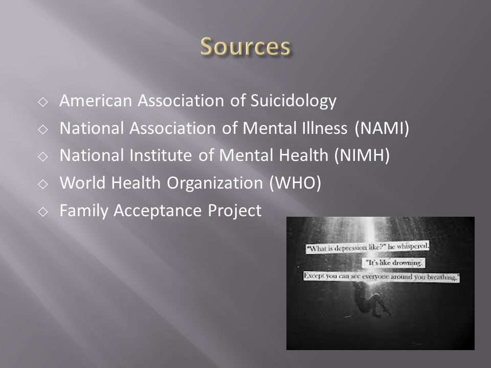 Sources American Association of Suicidology