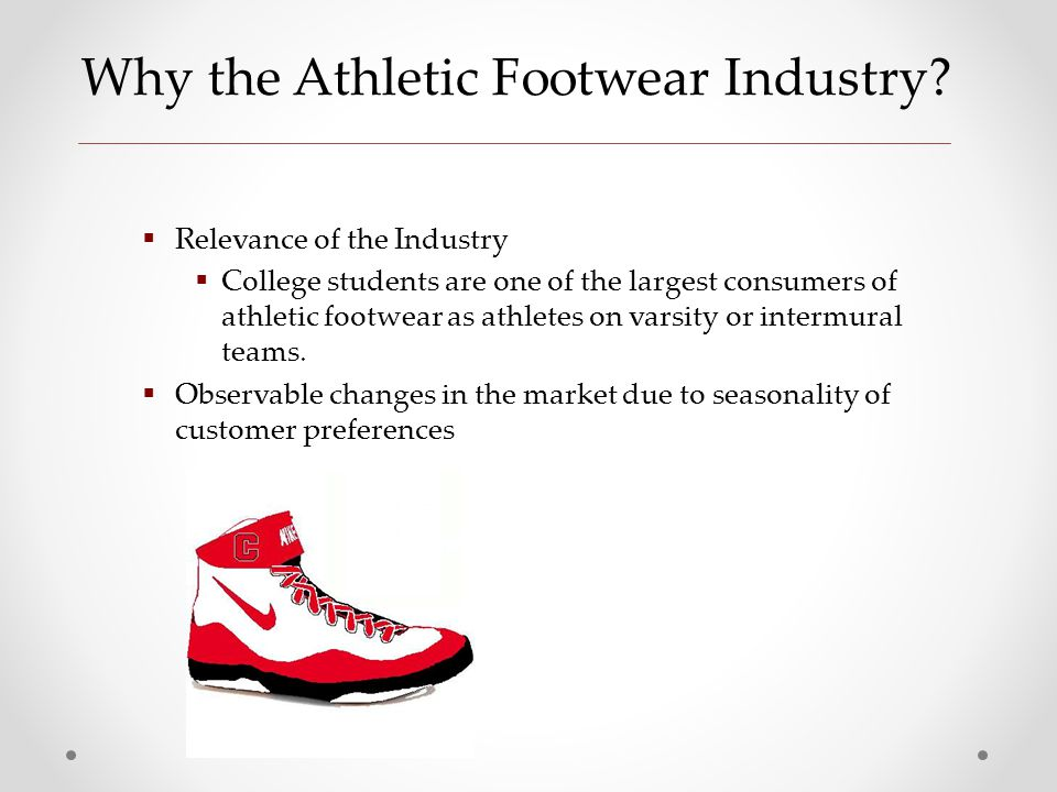 athletic footwear industry essay Adidas the largest sporting company marketing essay new balance athletic shoe origin: the athletic footwear, apparel and equipment industry is highly.