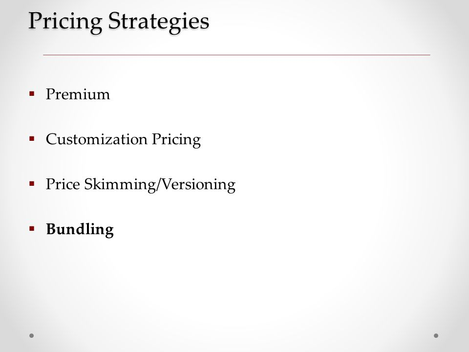 Versioning pricing strategy