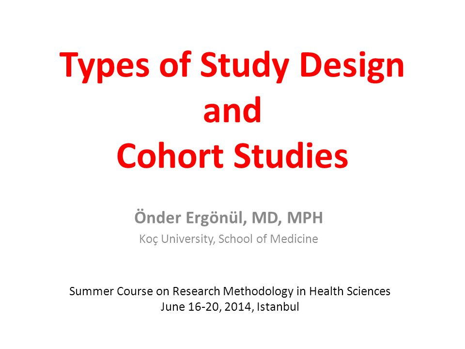 types of study design in research methodology