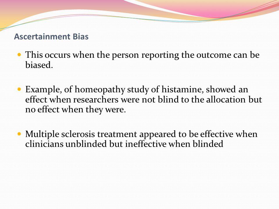 Ascertainment bias cohort study