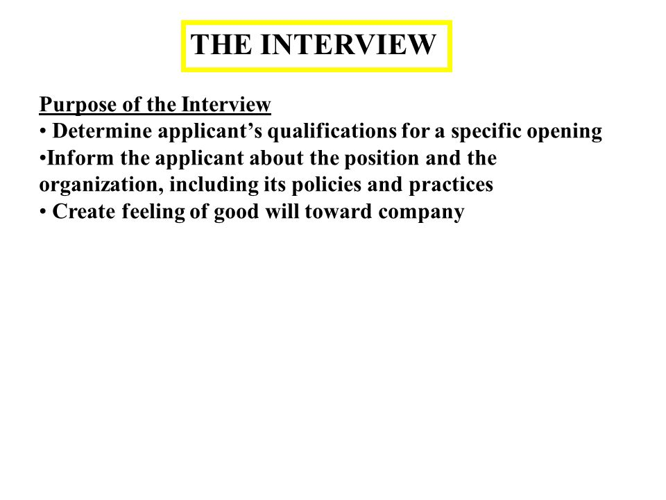 purpose of an interview Here you'll find advice and sample answers to the most common behavioral interview questions written by top interview coach pamela skillings.