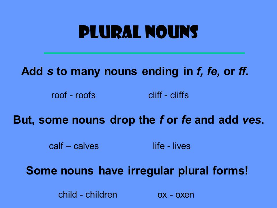 Nouns: Plurals & Contractions - ppt video online download