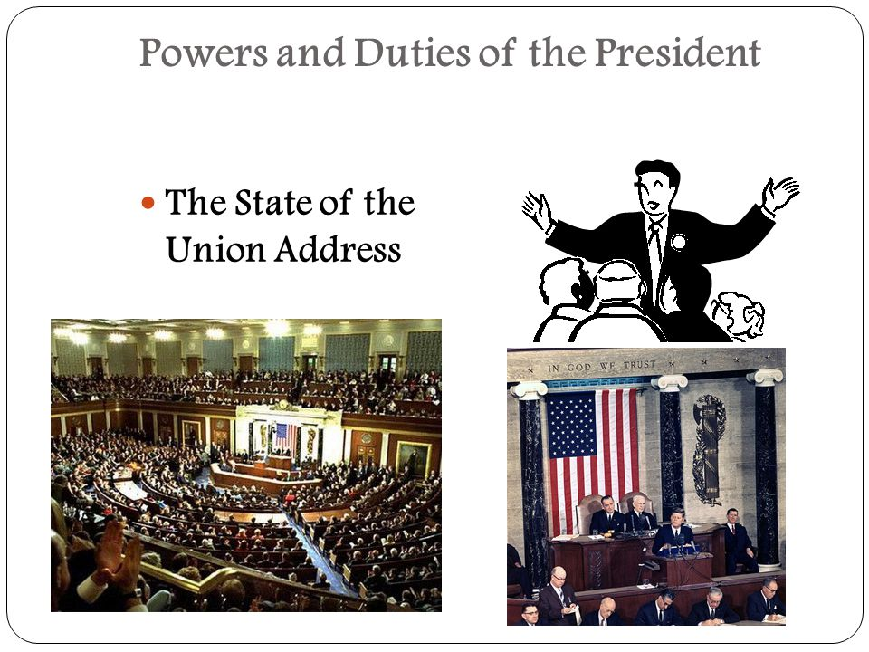 The powers of the American President