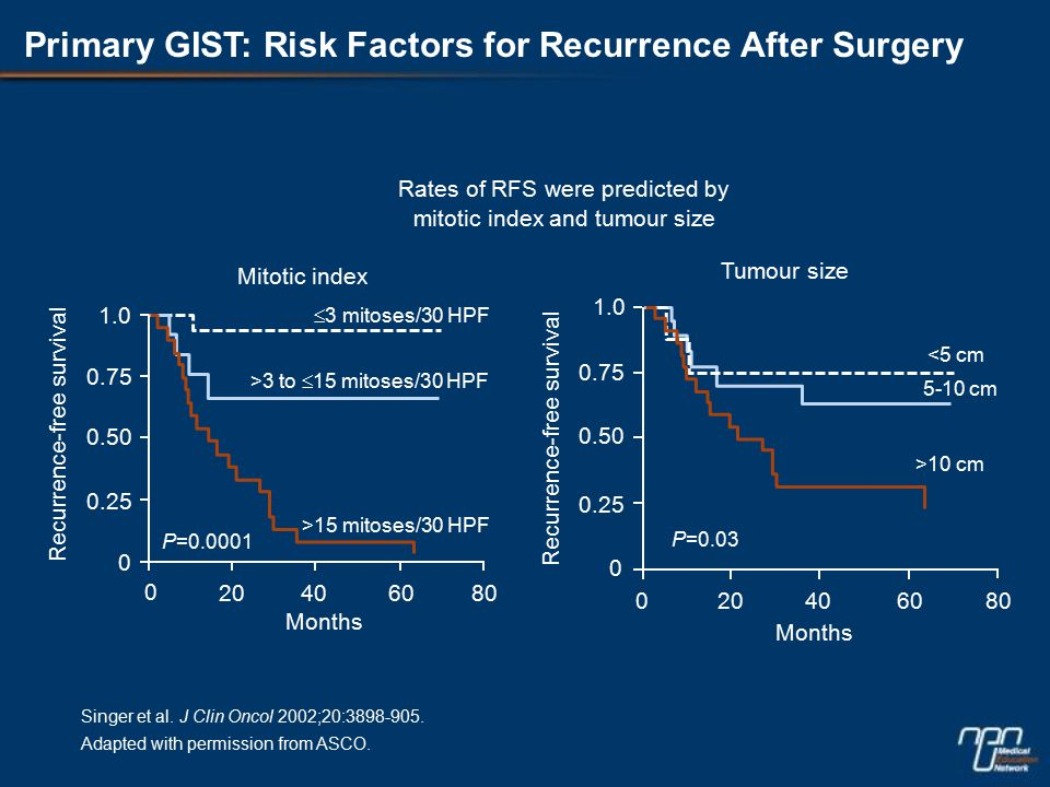 Primary GIST: Risk Factors for Recurrence After Surgery