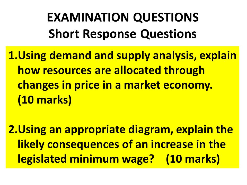 using demand and supply analysis explain how resources are allocated through changes in price in a m Price floor: if a price floor is set above the equilibrium price, consumers will demand less and producers will supply more an example of a price floor is the federal minimum wage in this case the suppliers are employees and employers are the consumers.