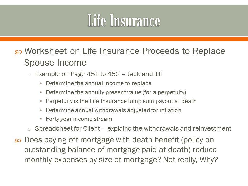 Life Insurance in Estate Planning ppt download – Estate Planning Worksheet