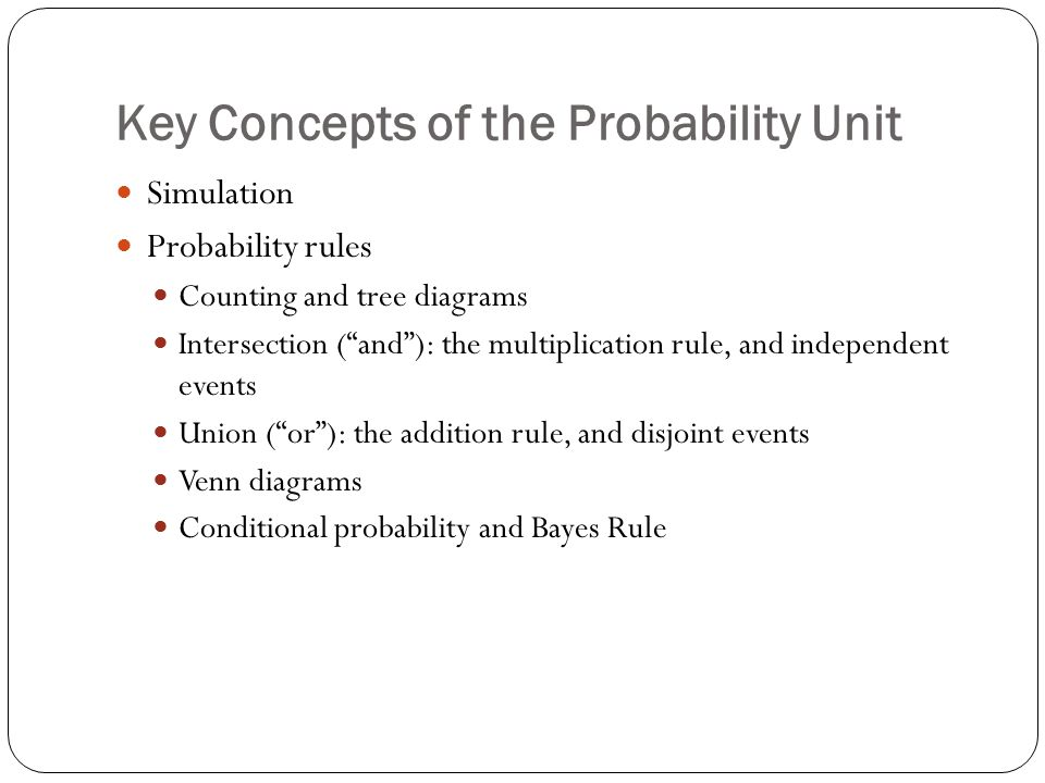 Key Concepts Of The Probability Unit Ppt Video Online Download