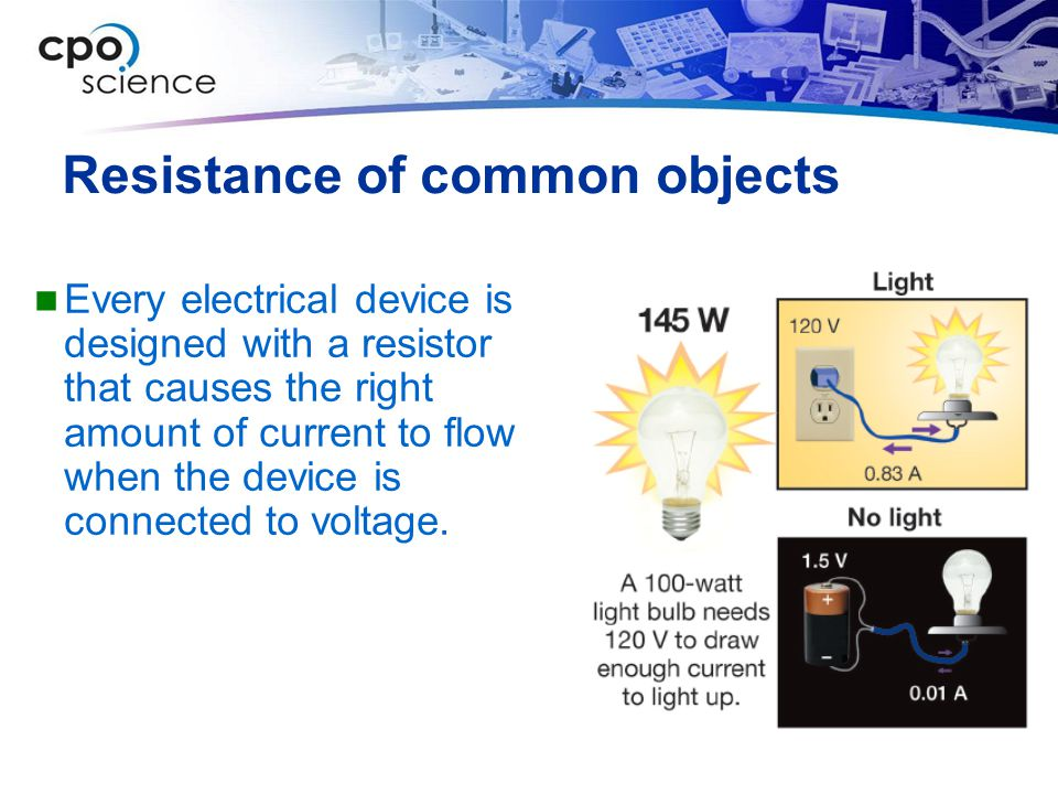 Resistance of common objects