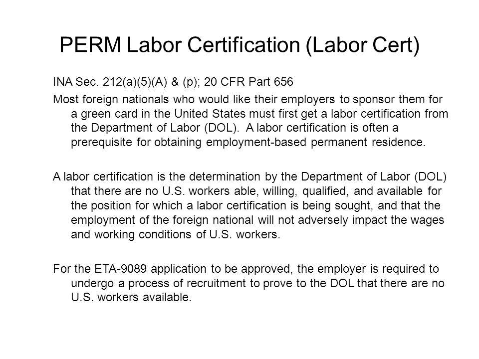 Permanent Labor Certification Details - akross.info