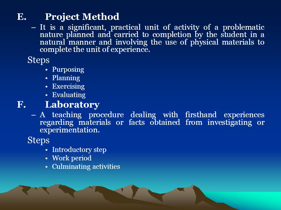 project method of teaching pdf