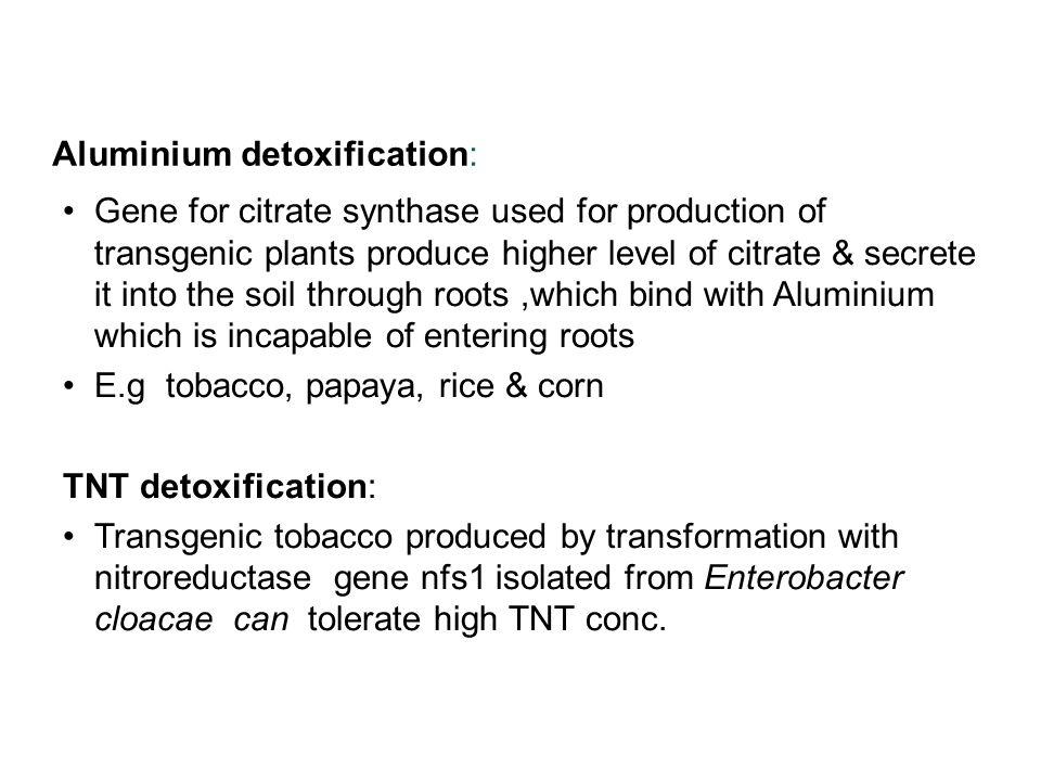 Aluminium detoxification: