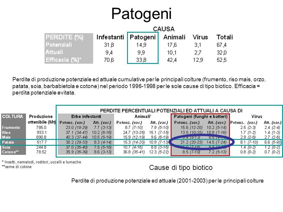 Patogeni Cause di tipo biotico