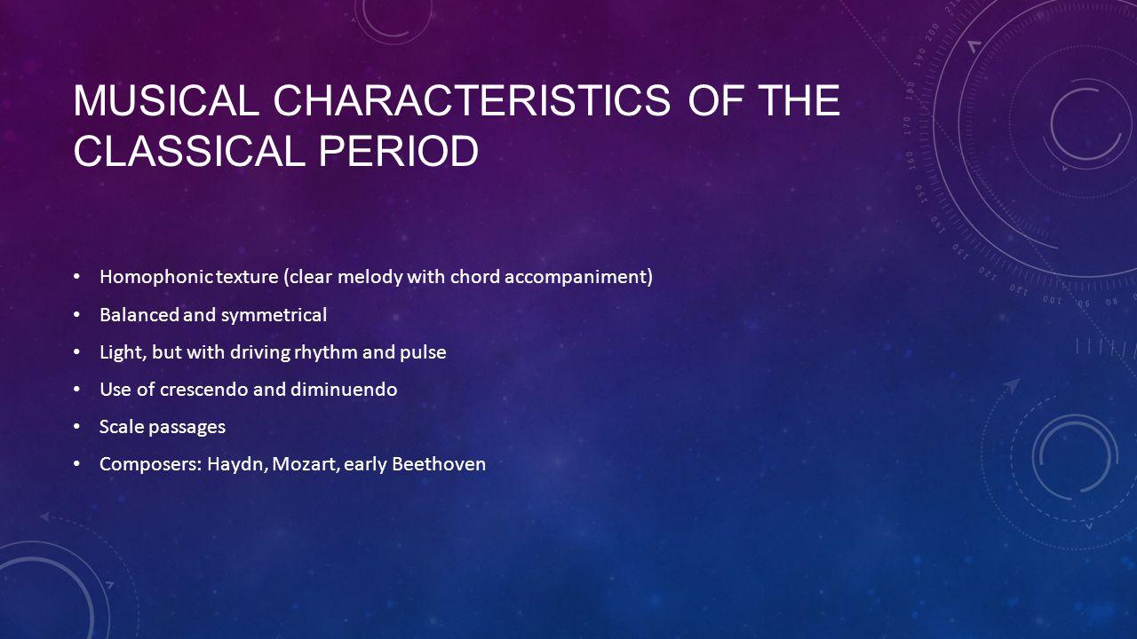 characteristics of classical music pdf