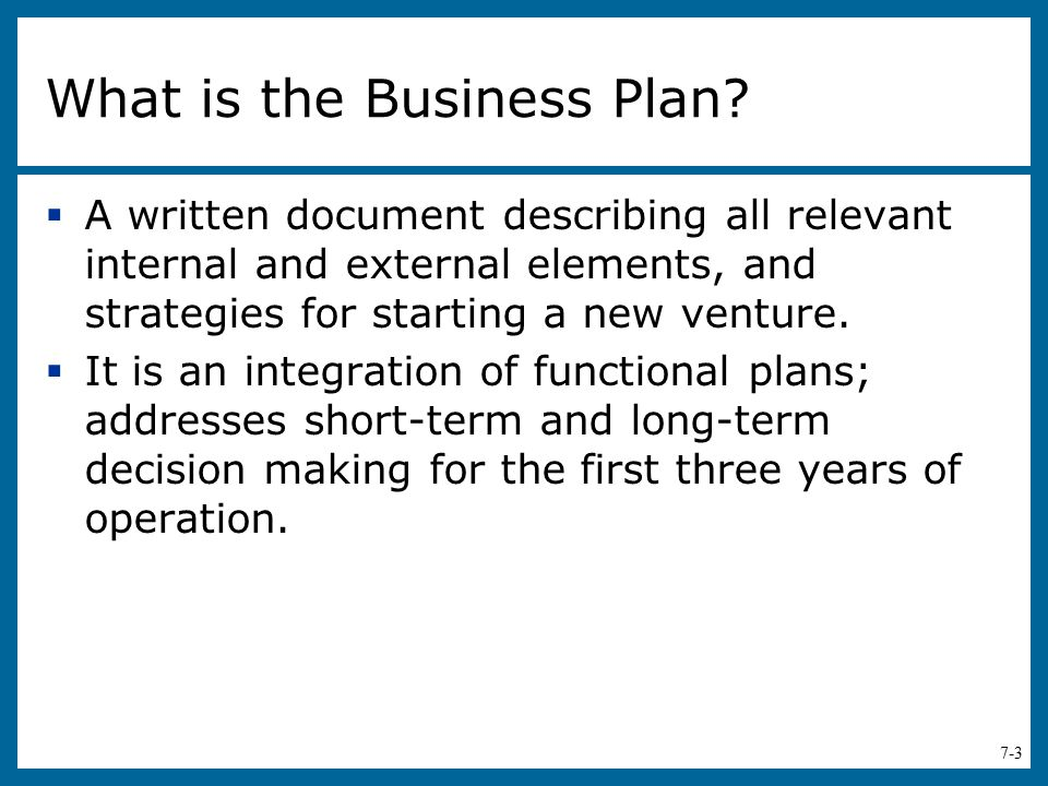 What is the Business Plan
