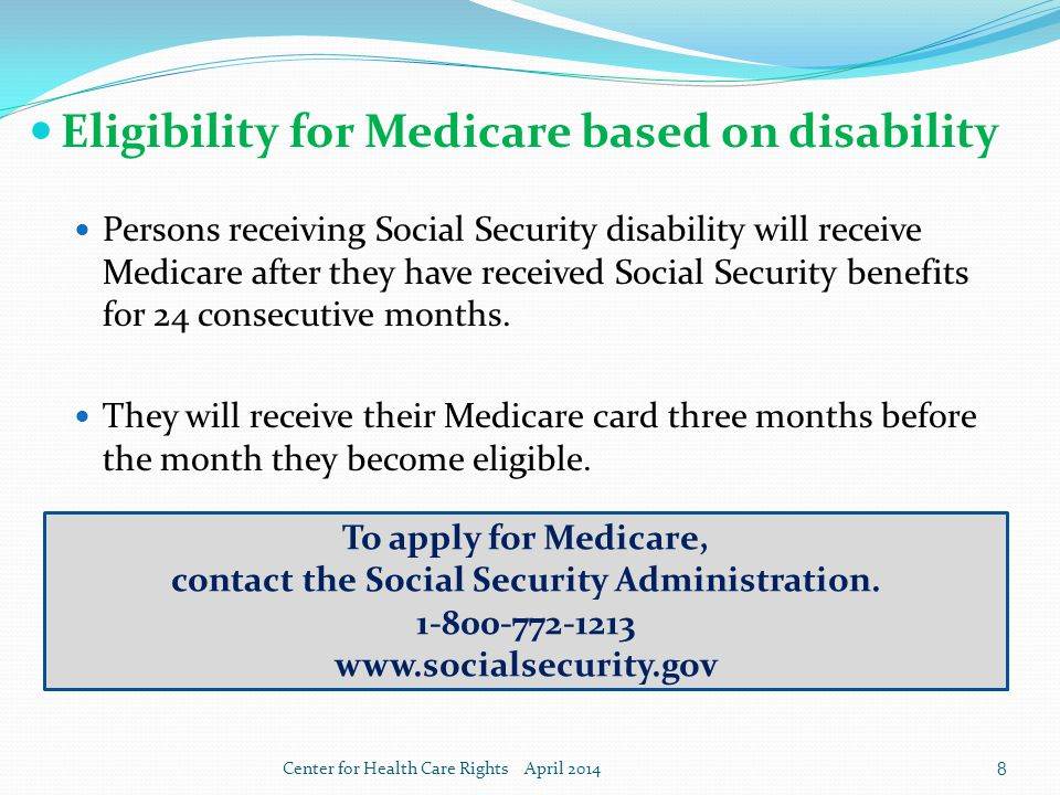 Basics of medicare center for health care rights april ppt video 8 contact ccuart Image collections