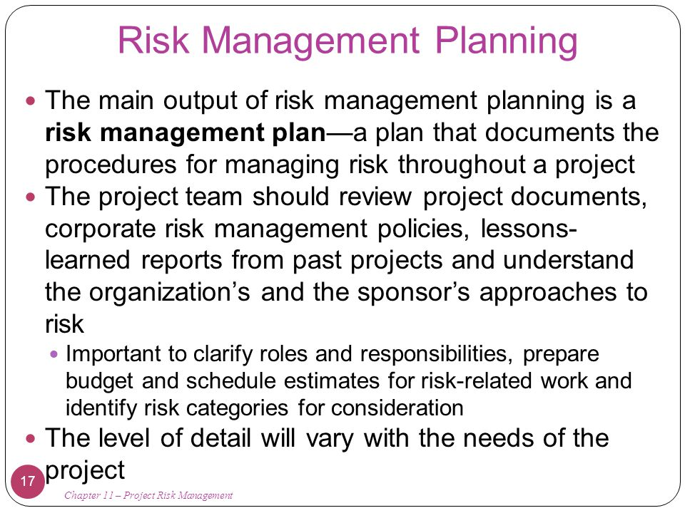 Chapter 11: Project Risk Management - Ppt Download