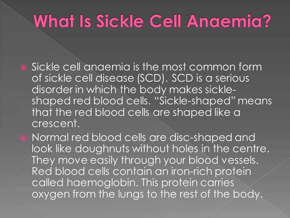 What Is Sickle Cell Anaemia