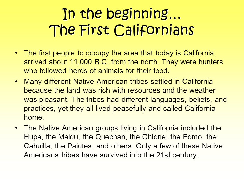 The History of California - ppt download