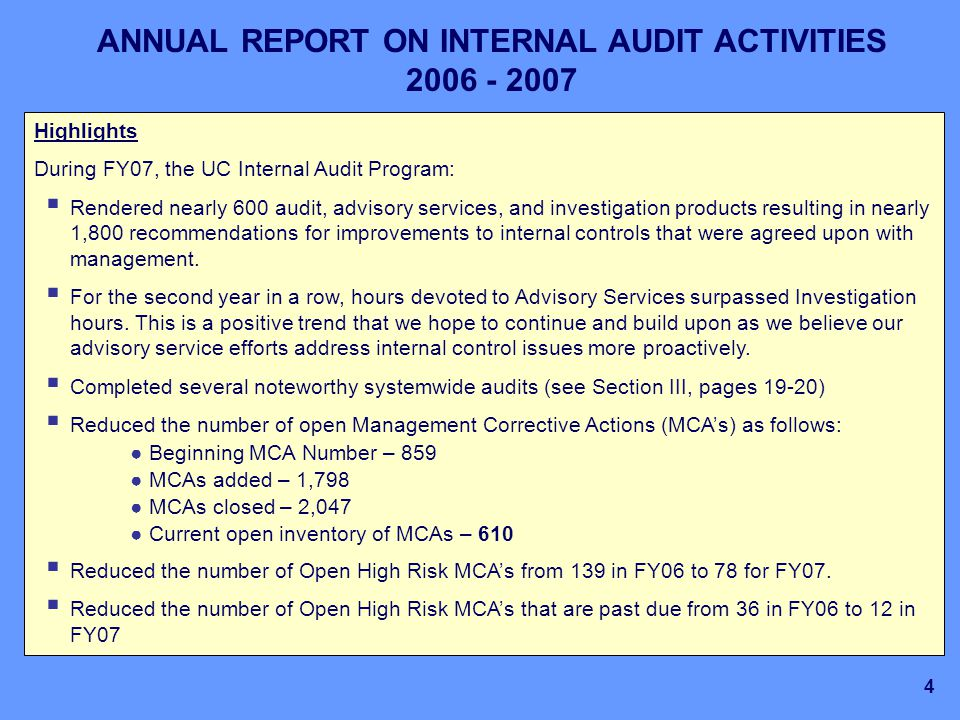 annual audit plans programs and activities Introduction the chief auditor's office appreciates the opportunity to provide our  vision for audit activities at the texas secretary of state (sos).