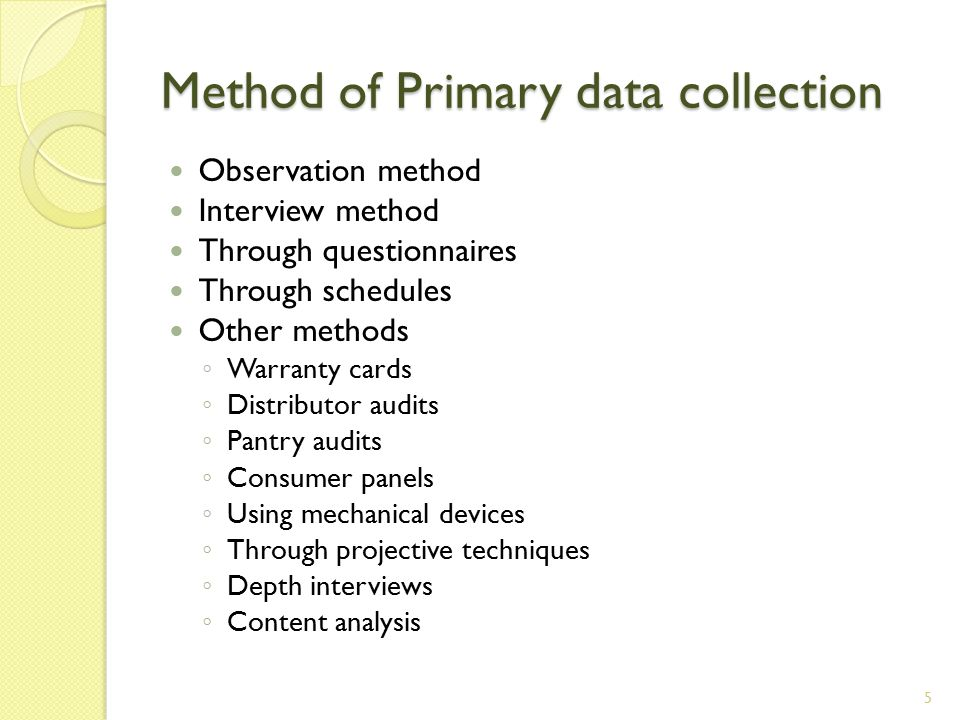 importance of questionnaire as a method for primary data collection This section provides a guide for selecting data collection methods in as in preparing a questionnaire, it is important to they provide important data and.