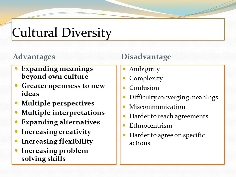 advantage and disadvantage multicultural society in malaysia Different perspectives a common advantage of a multicultural workforce is a broader range of perspectives on issues or challenges a 1999 fortune study supported the notion that more.