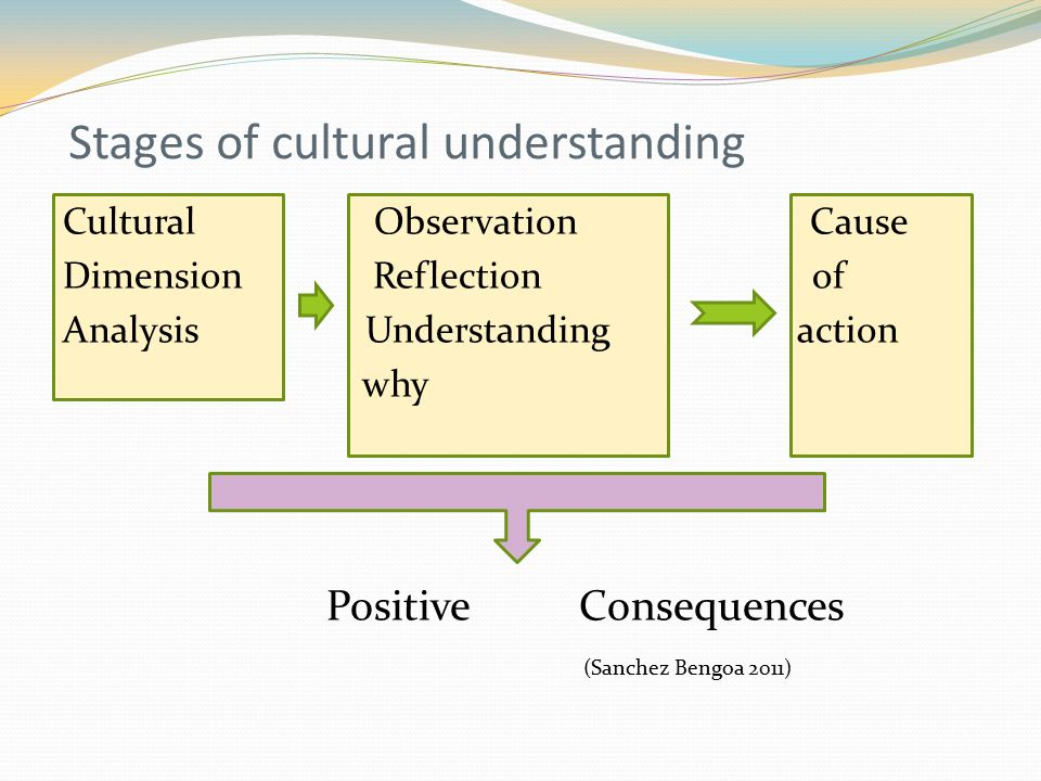 Stages of cultural understanding