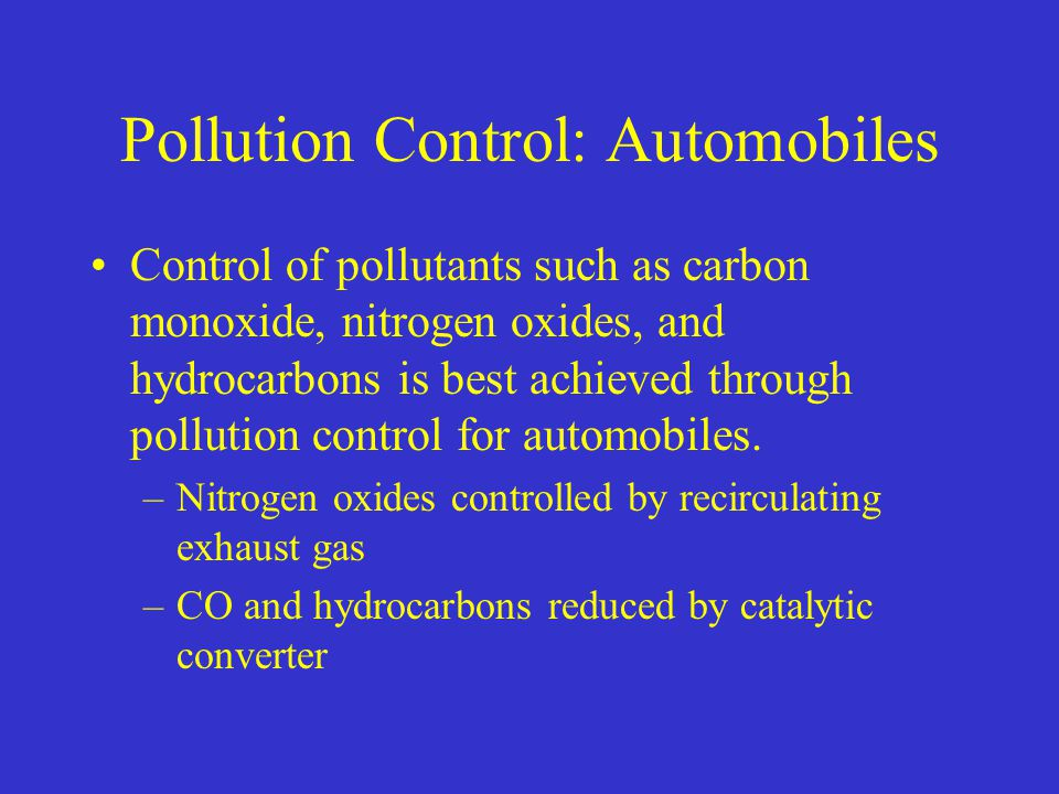 air pollution and automobiles Read chapter front matter: the combination of scientific and institutional integrity represented by this book is unusual it should be a model for future.