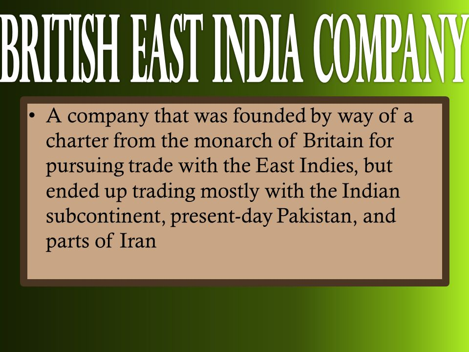The East Indian Presence