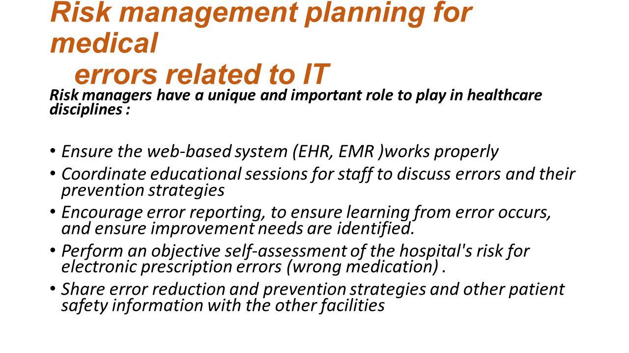 risk management discussion