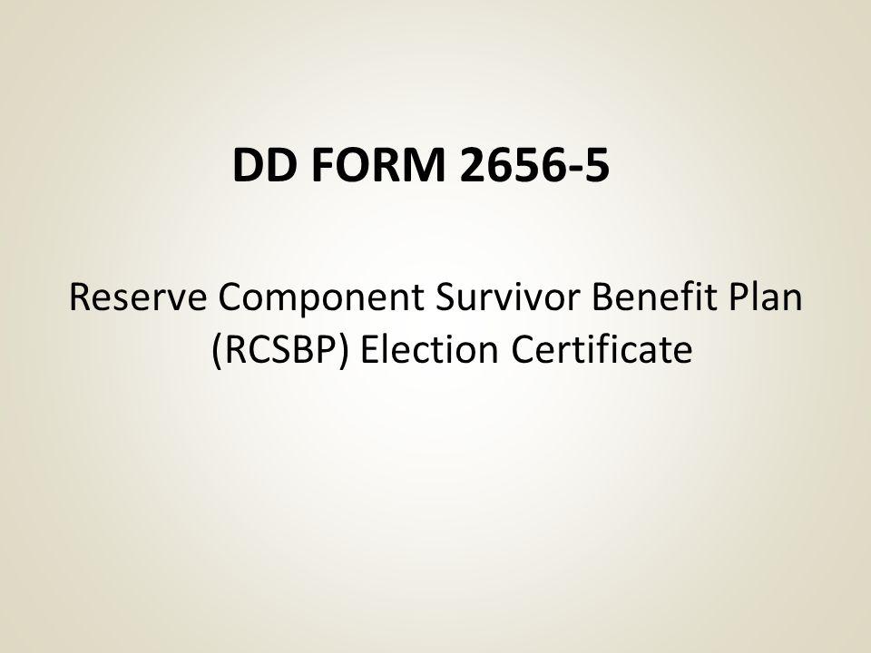 Reserve Component Survivor Benefit Plan - ppt download