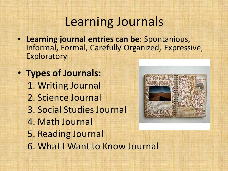 The importance of writing in the math journal