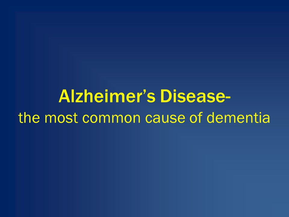 the most common cause of dementia Alzheimer's disease alzheimer's disease (ad) is the most common cause of dementia in people aged 65 and older experts believe that up to 53 million people in the united states are currently living with the disease.