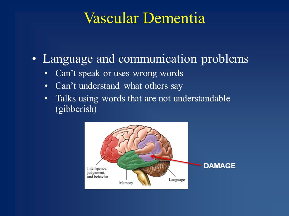 vascular dementia Vascular dementia — comprehensive overview covers symptoms, treatment of this stroke-related disorder.